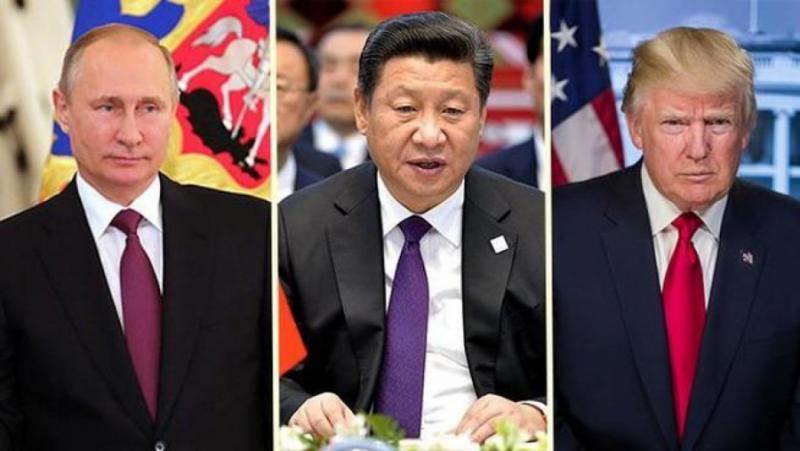 Русия, американско-китайска студена война