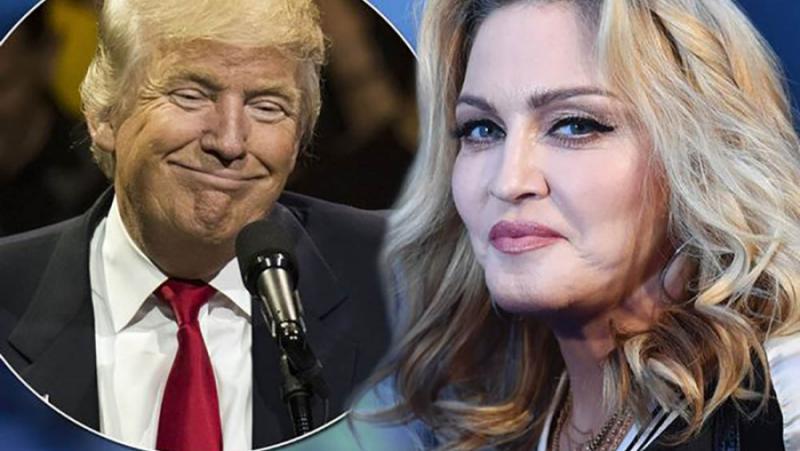 Daily Mail, Мадона, Тръмп, нацист, социопат