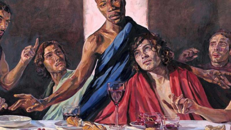 Британска катедрала,Тайната вечеря, чернокож Исус
