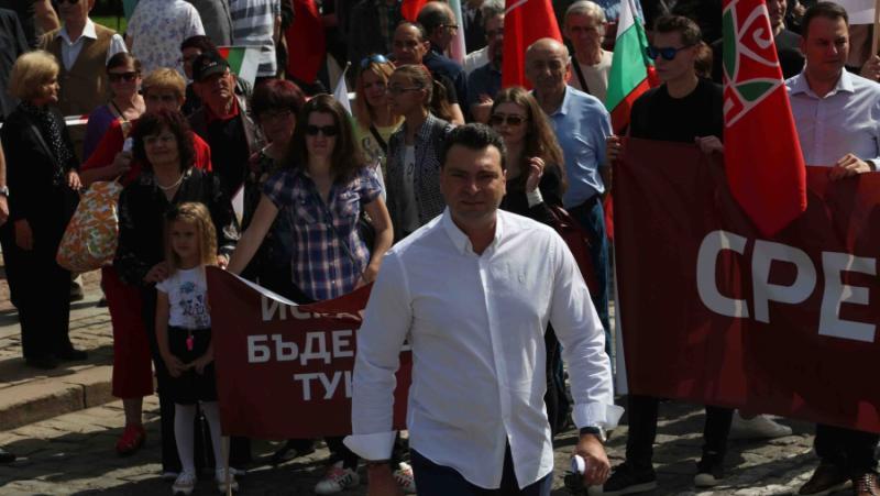 Калоян Паргов, 25 юли, протестен митинг, левицата