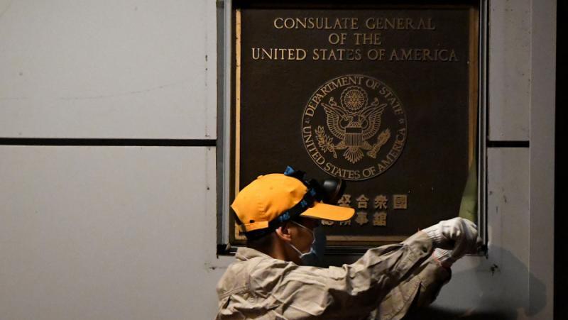 FAZ, конфликт, САЩ, Китай, консулствата