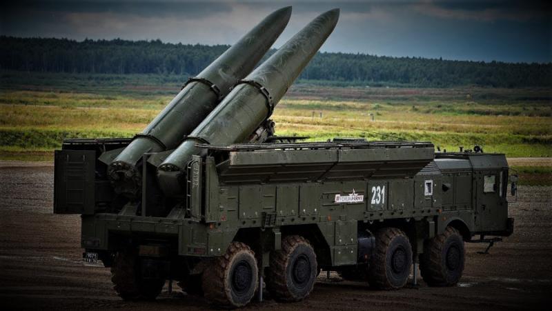 Видео, синхронизирани ракетни удари, Iskander-M
