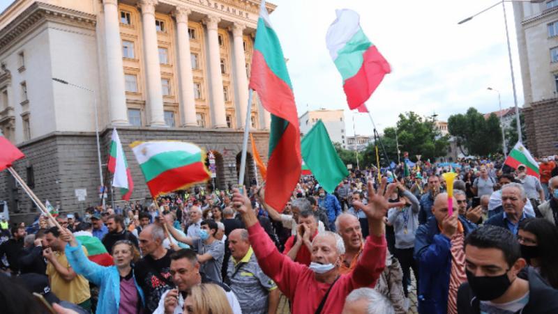 Улични протести, България, Запада