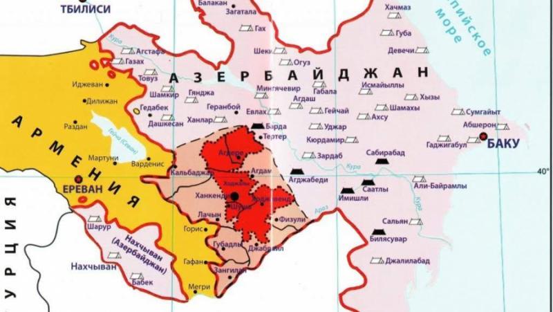Демаркация, граници, Нагорни Карабах