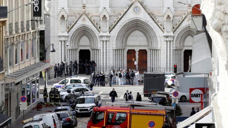 Клане, църква, Ница, ислямистки терористи