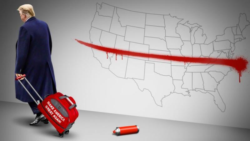 Червено-синьо-бял разкол, САЩ