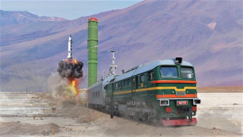 Русия, ядрен влак Скалпел, ракети, вагони, руските железници