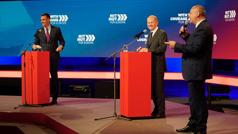 Станишев, Берлин, инициатива, Европа, избра, левите приоритети, Олаф Шолц, канцлер, кандидат, ГСДП