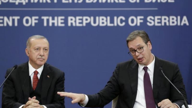 Вучич, Ердоган, Косово, турска земя, защитаване