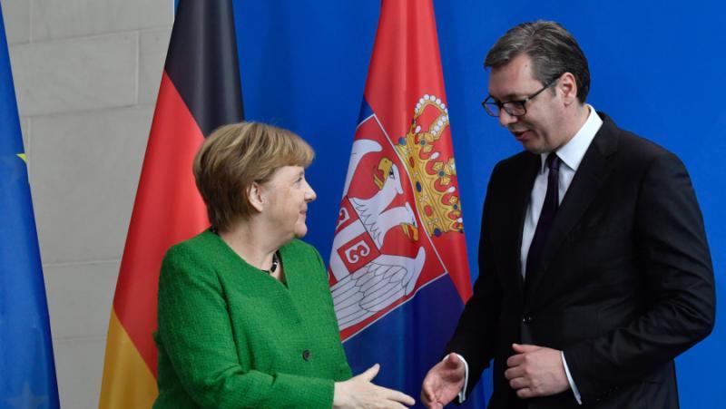 Президент, Сърбия, Вучич, Меркел