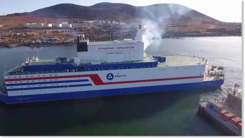 ZDF, Плаващи атомни електроцентрали, Русия, Арктика