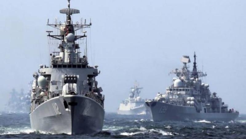 Times, военно сътрудничество, руски кораби, китайски кораби, японски проток